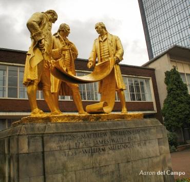 The Golden Boys. Boulton, Watt y Murdoch. Ellos fueron los encargados de desarrollar y mejorar motor a vapor.
